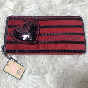 Juicy Couture Velour and Sequin Wallet